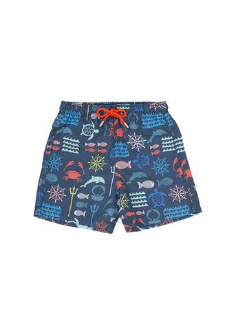 Shorts-Bambini-Nettuno-Azul-Marinho