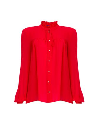 Camisa-Romain-de-Seda-Hibisco