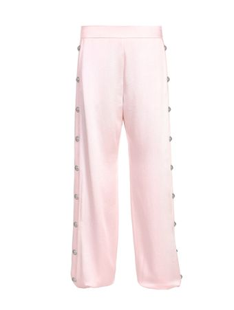 CALCA-SIDE-BUTTON-SATIN-SWEATPANTS