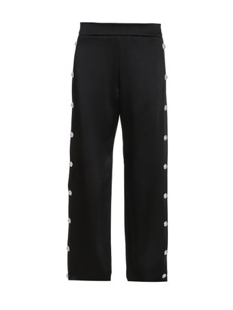 CALCA-SIDE-BUTTON-SATIN-SWEATPANTS-0PA-BLACK