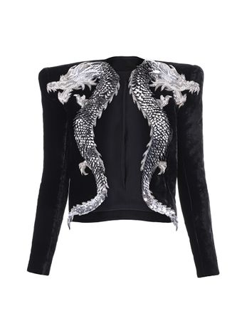 JAQUETA-DRAGON-EMBROIDERED-VELVET-JACKET-EAC-BLACK-SILVER