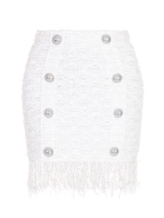-SAIA-SHORT-8-BTN-FRINGED-TWEED-SKIRT-GAC-WHITE-SILVER