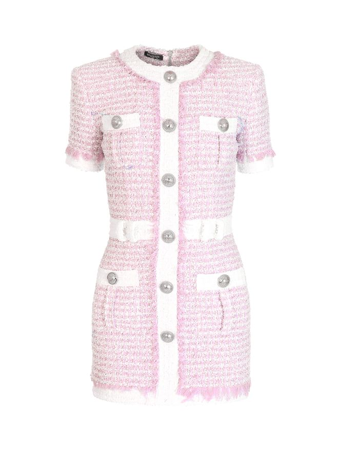 VESTIDO-SHORT-SS-BUTTONED-TWEED-DRESS-PINK-PALEWHITE