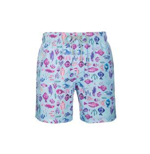 Shorts-Mare-Multicolore-Verde-Agua