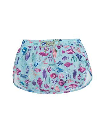 Shorts-Saia-Bambini-Mare-Multicolore-Verde-Agua