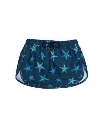 Shorts-Saia-Bambini-Stella-di-Mare-Azul-Marinho