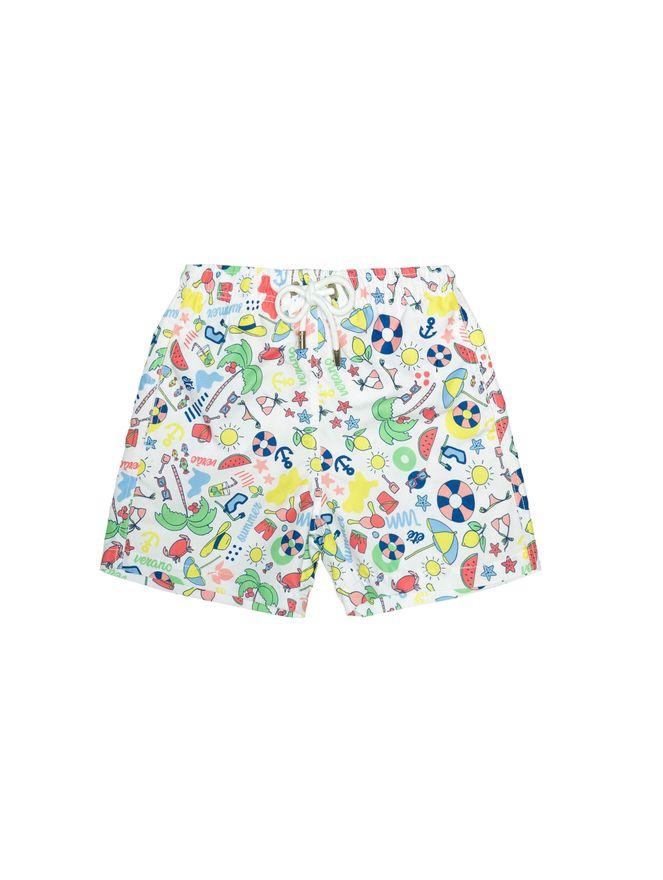 Shorts-Bambini-Festa-in-Spiaggia-Branco