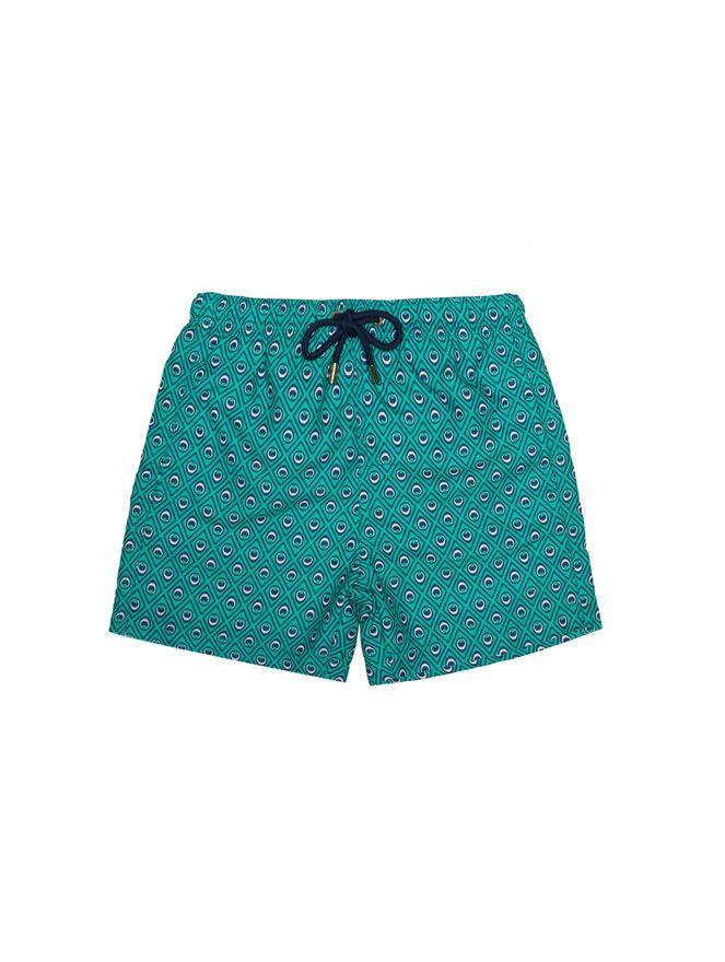 Shorts-Bambini-Occhi-Verdi-Verde
