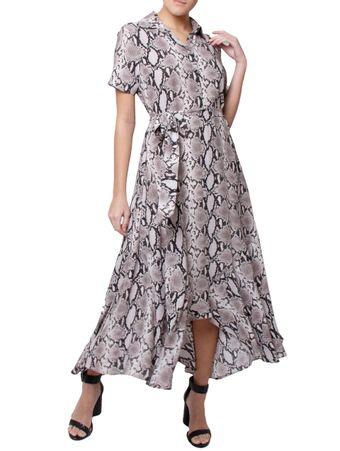 Vestido-Tonga-de-Seda-Estampado-Cinza