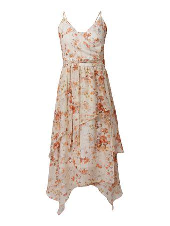 Vestido-Midi-Transpassado-Wrap-Floral-Nude