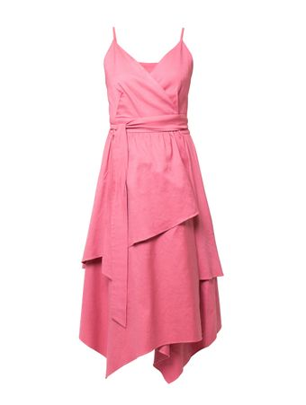 Vestido-Midi-Transpassado-Wrap-Rosa