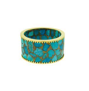 Pulseira-cuff-em-ouro-18k-e-mosaico-de-turquesa