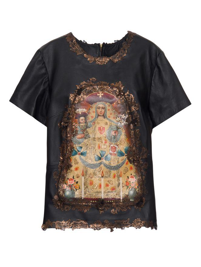 Camiseta-de-Couro-Estampada-Preta