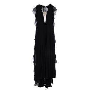 Vestido-Longo-Assimetrico-de-Seda-Preto