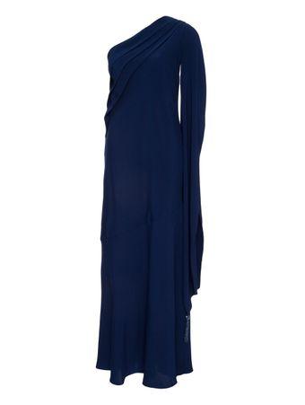 Vestido-Longo-Um-Ombro-So-Azul-Marinho