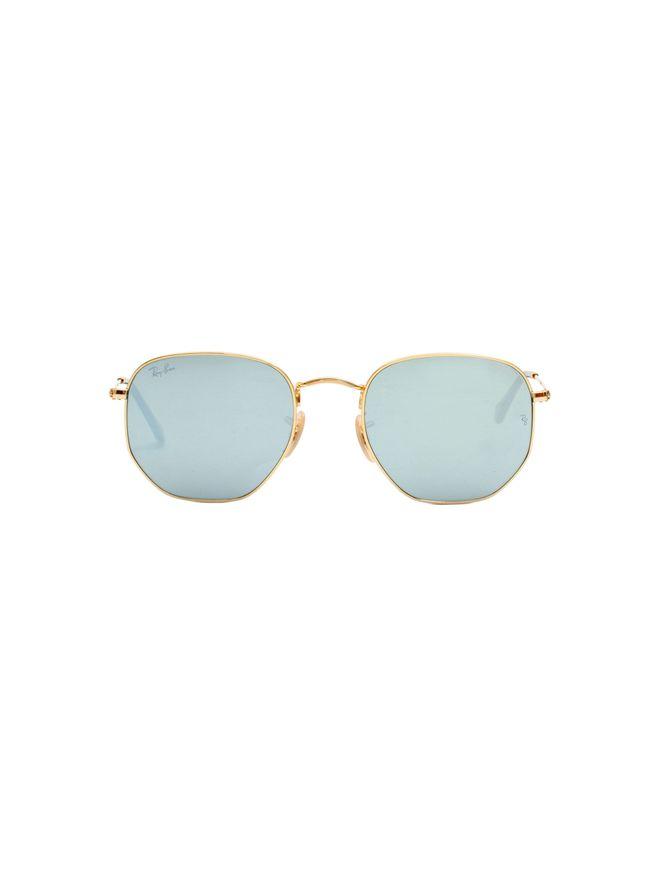 Oculos-de-Sol-Retangular-Dourado