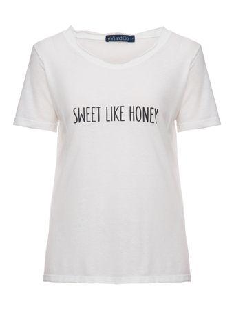 Camiseta-Manga-Curta-Sweet-Like-Honey-Off-White