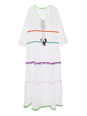 Vestido-Longo-Pompons-Branco