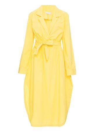 Vestido-Midi-Fendas-Amarelo