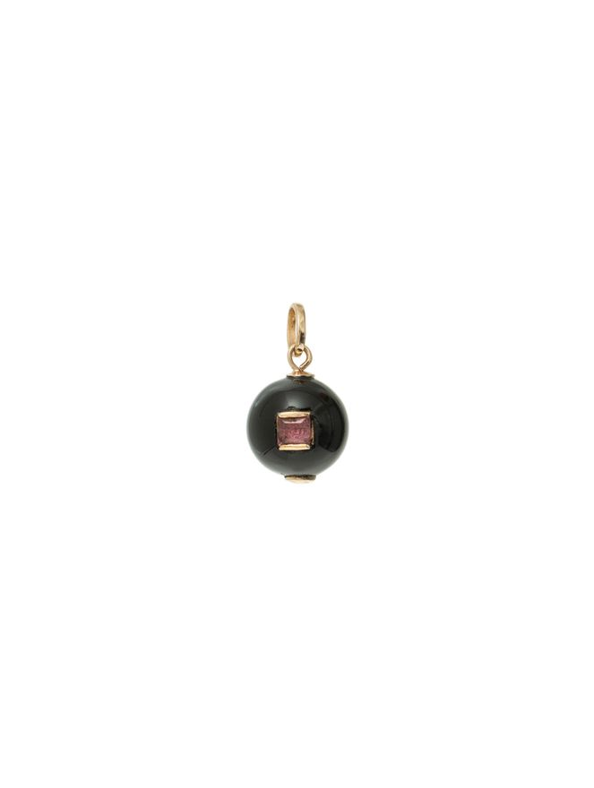 Pingente-Esfera-Onix-Roxo-de-Ouro