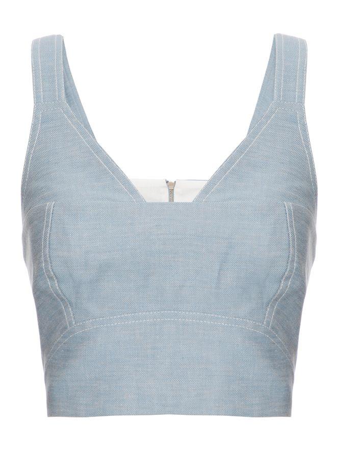 Cropped-de-Linho-Azul