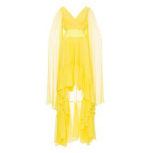Vestido-Babados-Amarelo