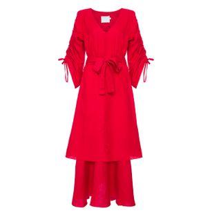 Vestido-Tulum-de-Linho-Vermelho