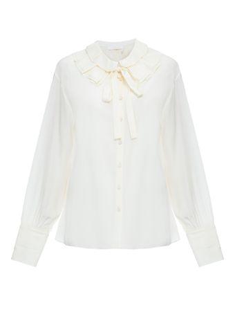 Camisa-babados-de-seda