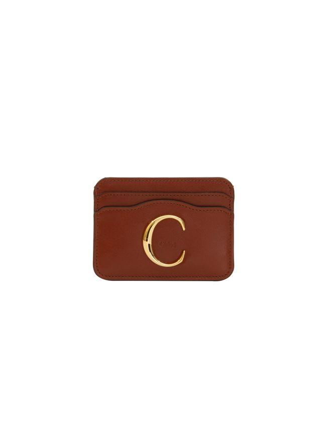 PORTA-CARTAO-CHLOE-C-CARD-HOLDER-SEPIA-BROWN