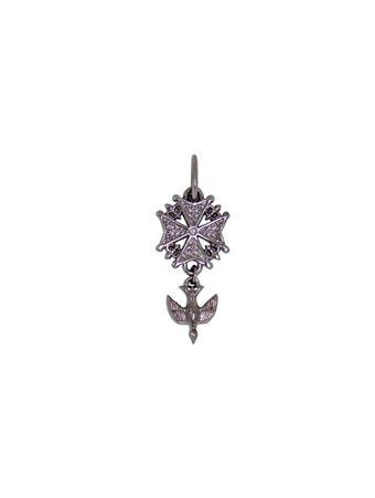 Pingente-Crucifixo-Pomba-de-Rodio-Negro