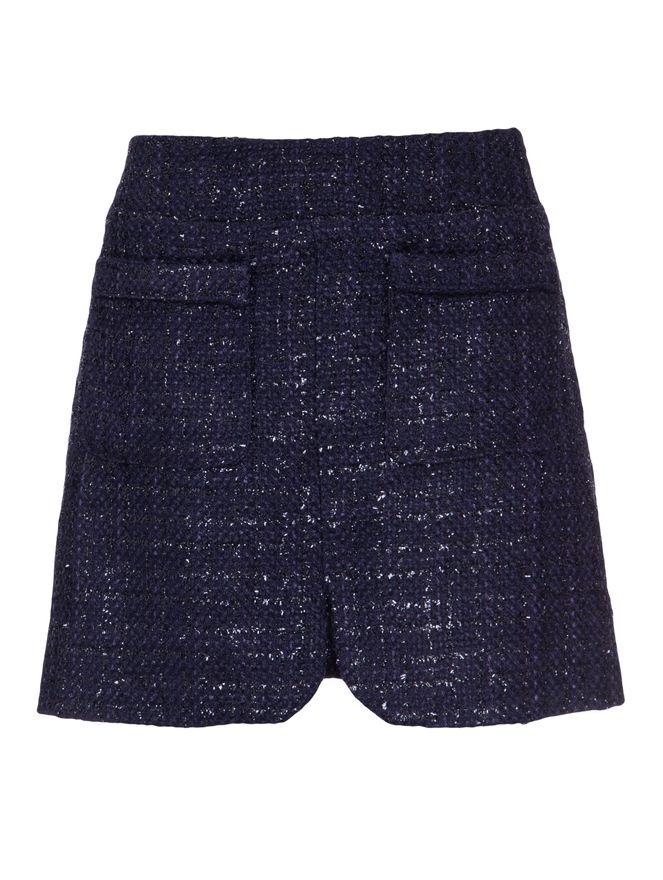 Saia-Mini-Tweed-Azul