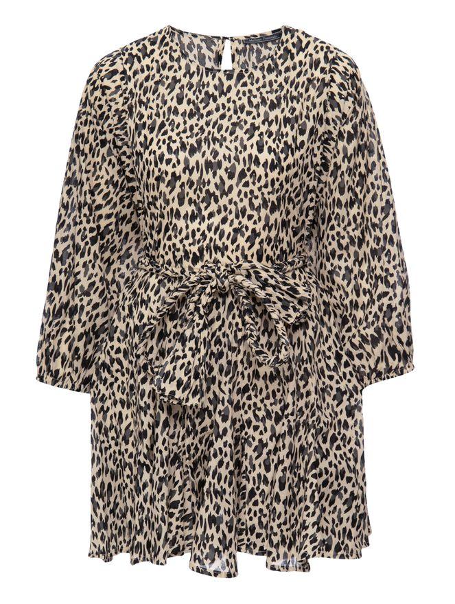 Vestido-Curto-Cinto-Trancado-Animal-Print