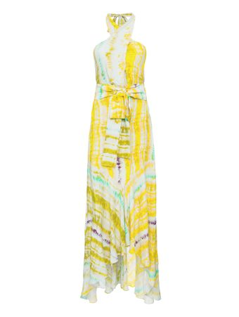 VESTIDO-ARDELL--DRESS-BELT-INCLUDED-CITRUS-WATER-COLOR