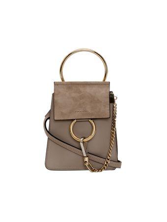 Bolsa-Faye-Small-Bracelet-de-Couro-Cinza