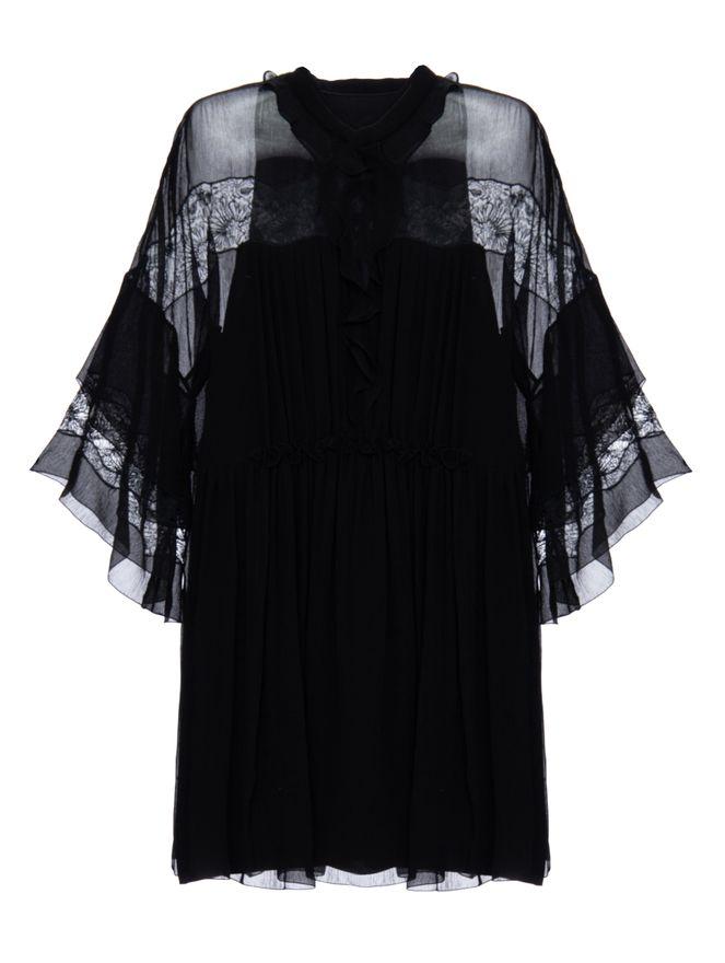 Vestido-Bordado-de-Seda-Preto