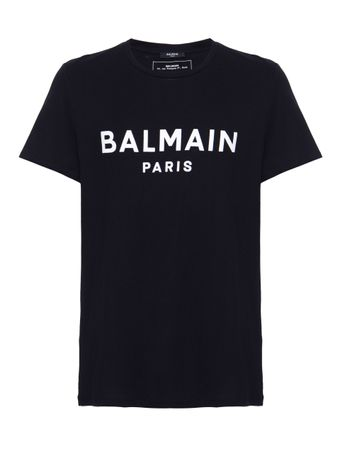 CAMISETA-TSHIRT-BALMAIN-PARIS-FLOCK-0-BLACK