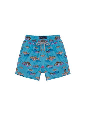 Shorts-Peixes-Estampado