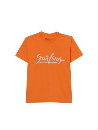 Camiseta-Surfing-de-Algodao-Laranja