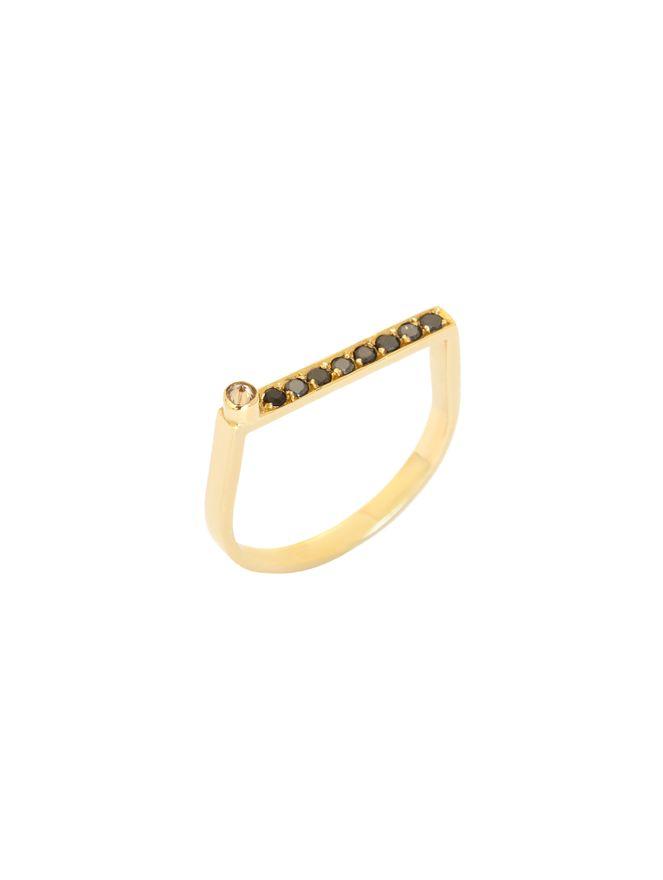Anel-Pyramide-Diamantes-Negros-e-Champagne-de-Ouro