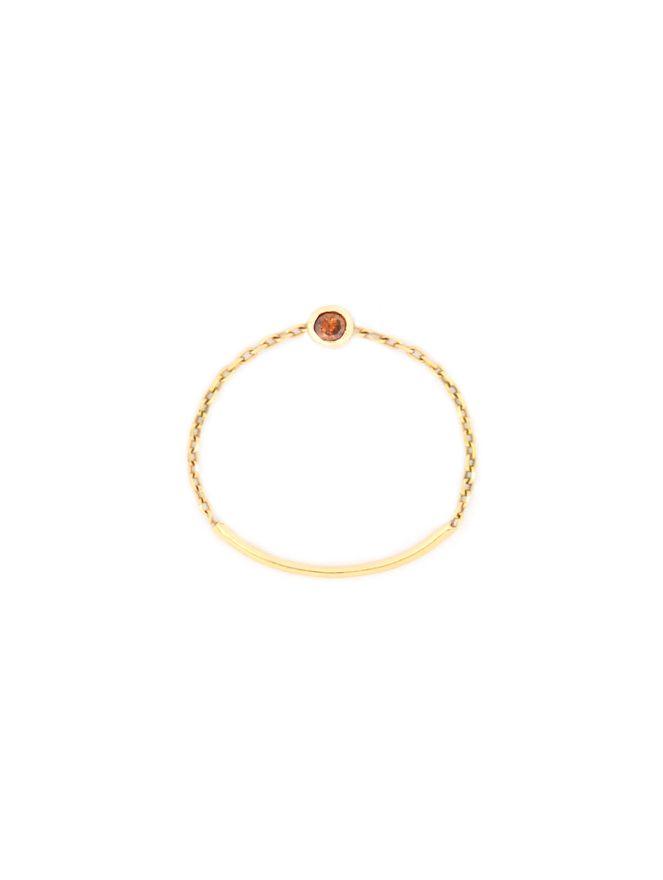Anel-Solitario-Corde-la-Circuler-Diamante-Marrom-de-Ouro