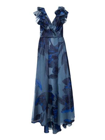 Vestido-Longo-Decote-V-Estampado
