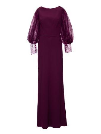 Vestido-Longo-Faixa-Vinho