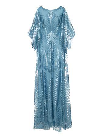 Vestido-Longo-Paete-Azul