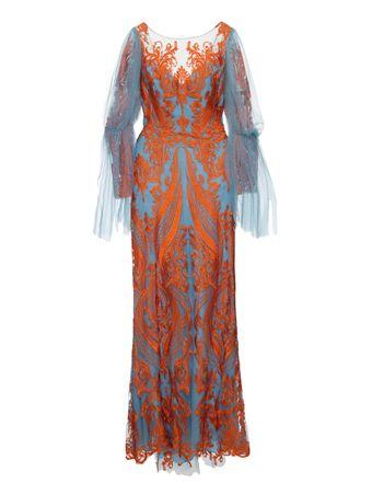 Vestido-Longo-Bordado-Azul