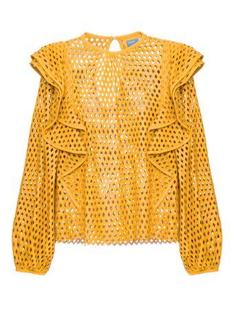 Blusa-Prisma-de-Couro-Amarela