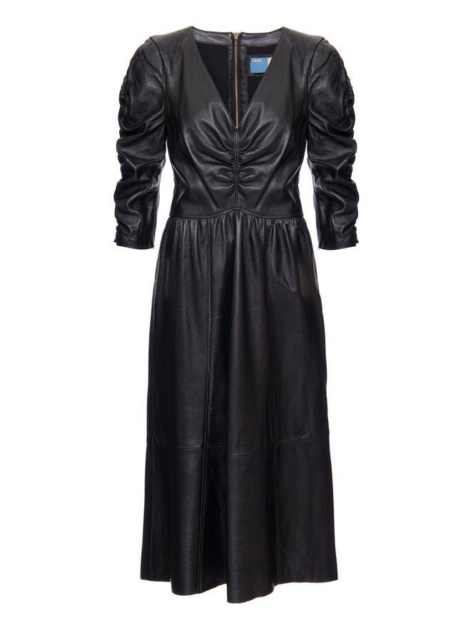 Vestido-Eden-de-Couro-Preto