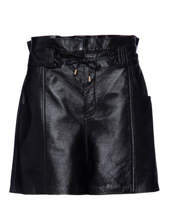Shorts-Acerola-de-Couro-Preto
