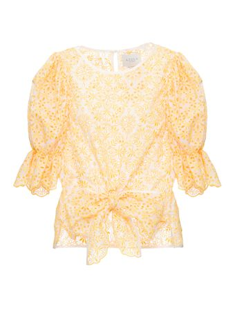 Blusa-Flores-Bordado-Amarela