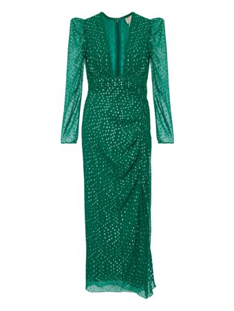 VESTIDO-GREEN-VISCOSE-GEORGETTE-SILVER-L-GREEN