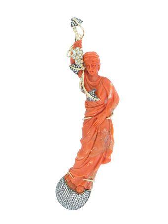Pingente-Estatua-Coral-de-Ouro